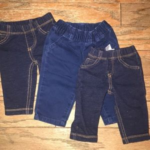 Bundle of baby boys pants.
